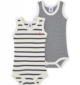 Set of 2 baby striped bodysuits