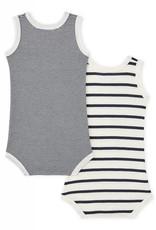 Set of 2 baby striped bodysuits