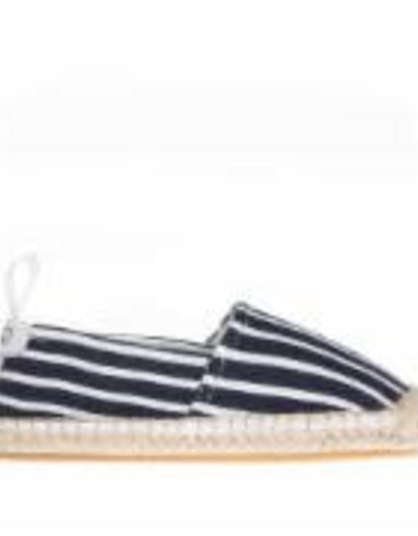 Elle navy striped slip-on