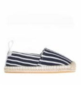 Elle navy striped slip-on