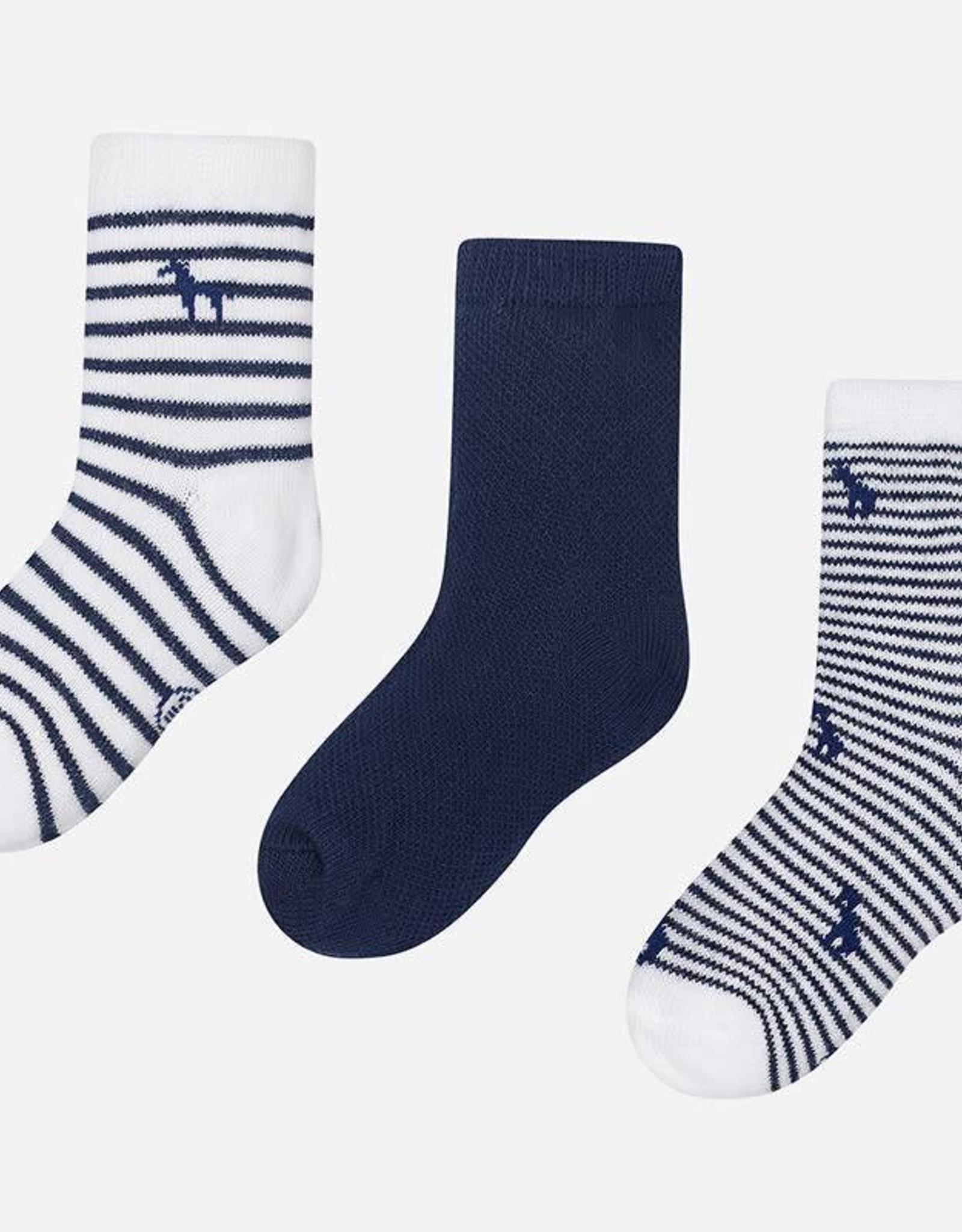 Mayoral Set of 3 socks, navy