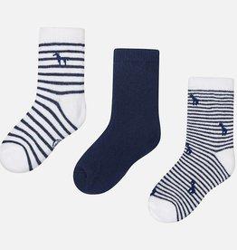 Mayoral Lot de 3 paires de chaussettes, bleu marine
