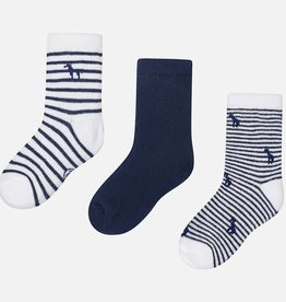Set of 3 socks, navy