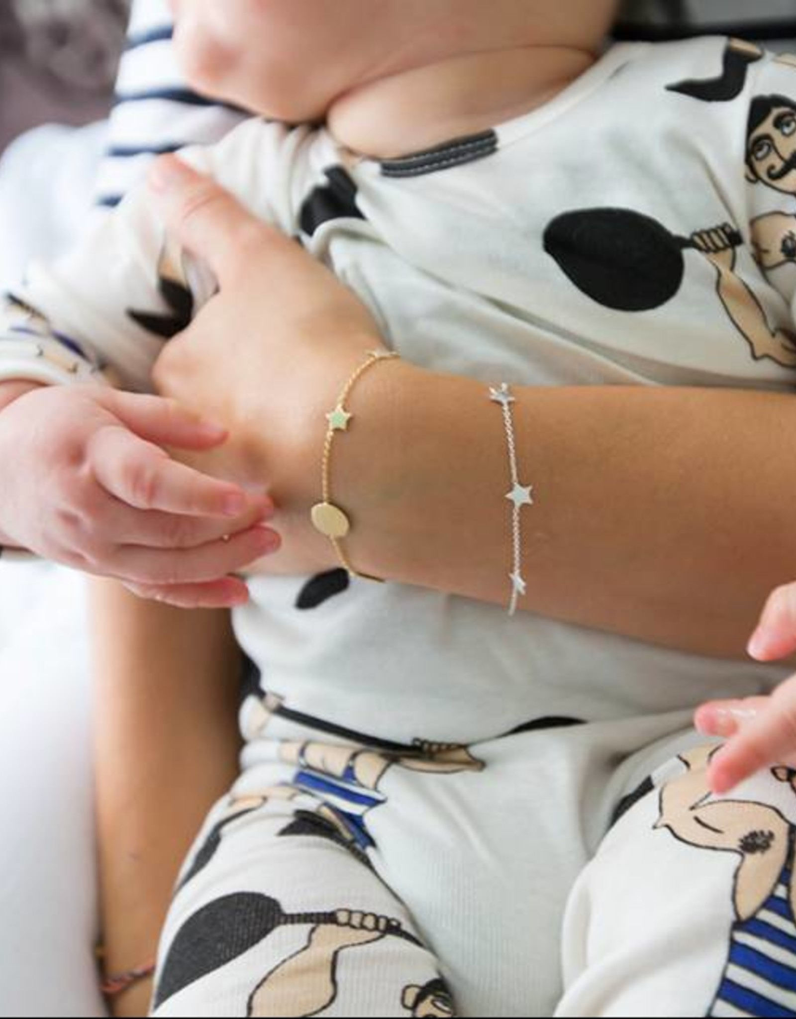 """Lennebelle """"You are my sun my moon and all my stars"""" Miss Universe mother bracelet"""