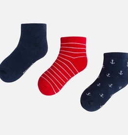 Set of 3 socks, 3 colors