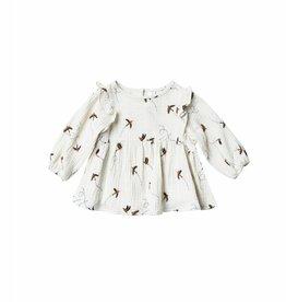 Piper blouse, sparrow print