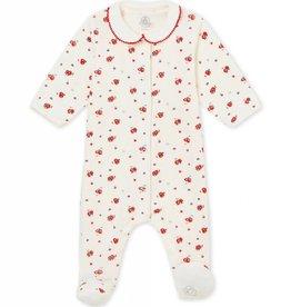 Pyjama pour bébés, imprimé fleurs