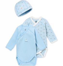 Lot de 2 cache-couches et un bonnet, pour bébé garçon