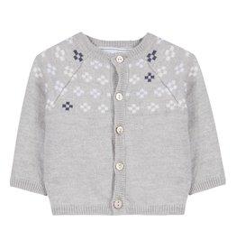 Snowflakes baby cardigan