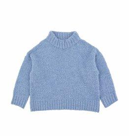 Fluffy mock sweater