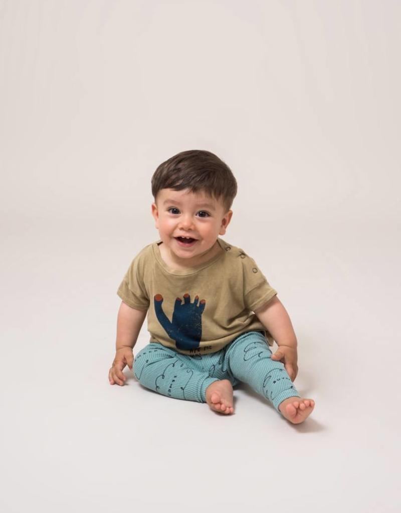 T-shirt à manches courtes pour bébés, imprimé empreinte de pied