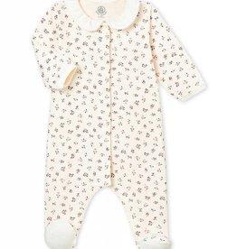 Pyjama pour bébé, imprimé fleurs délicates