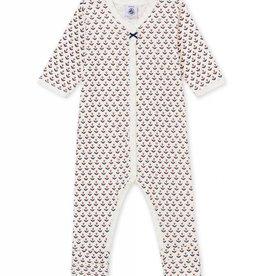 Baby pajamas, flower print