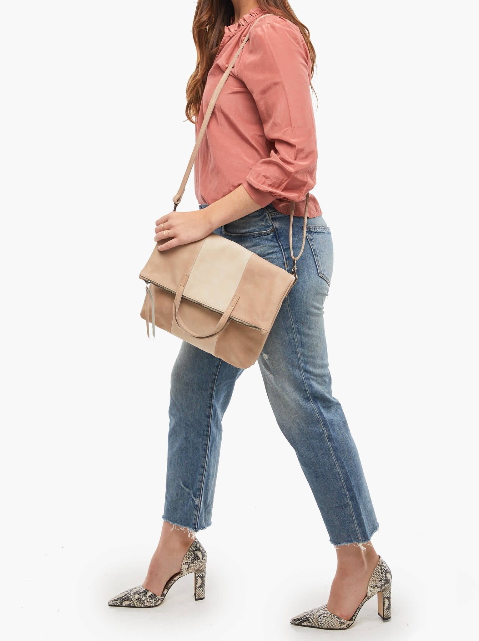 Fashionable Emnet Colorblock Foldover Tote