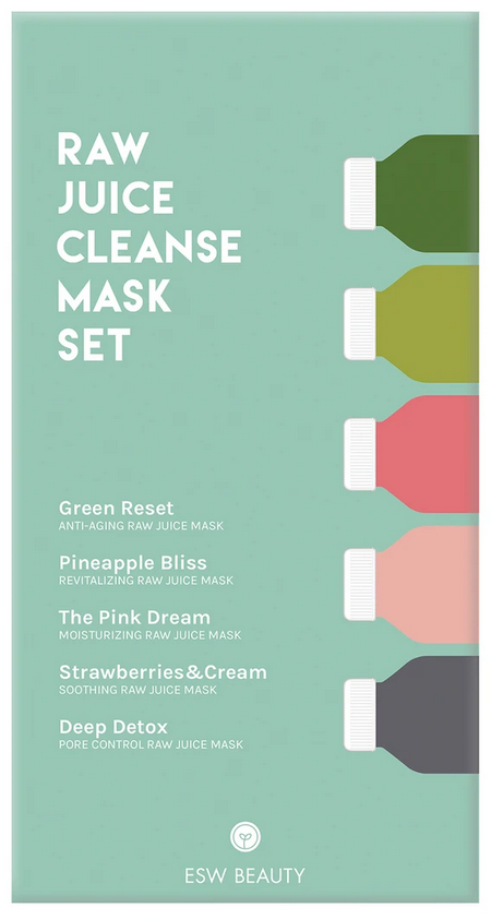ESW Beauty Raw Juice Cleanse Mask Set