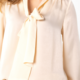 Liverpool V- Neck Long Sleeve Blouse With Neck Tie