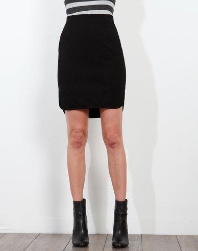 3DOTS Ponte Shirt Tail Skirt