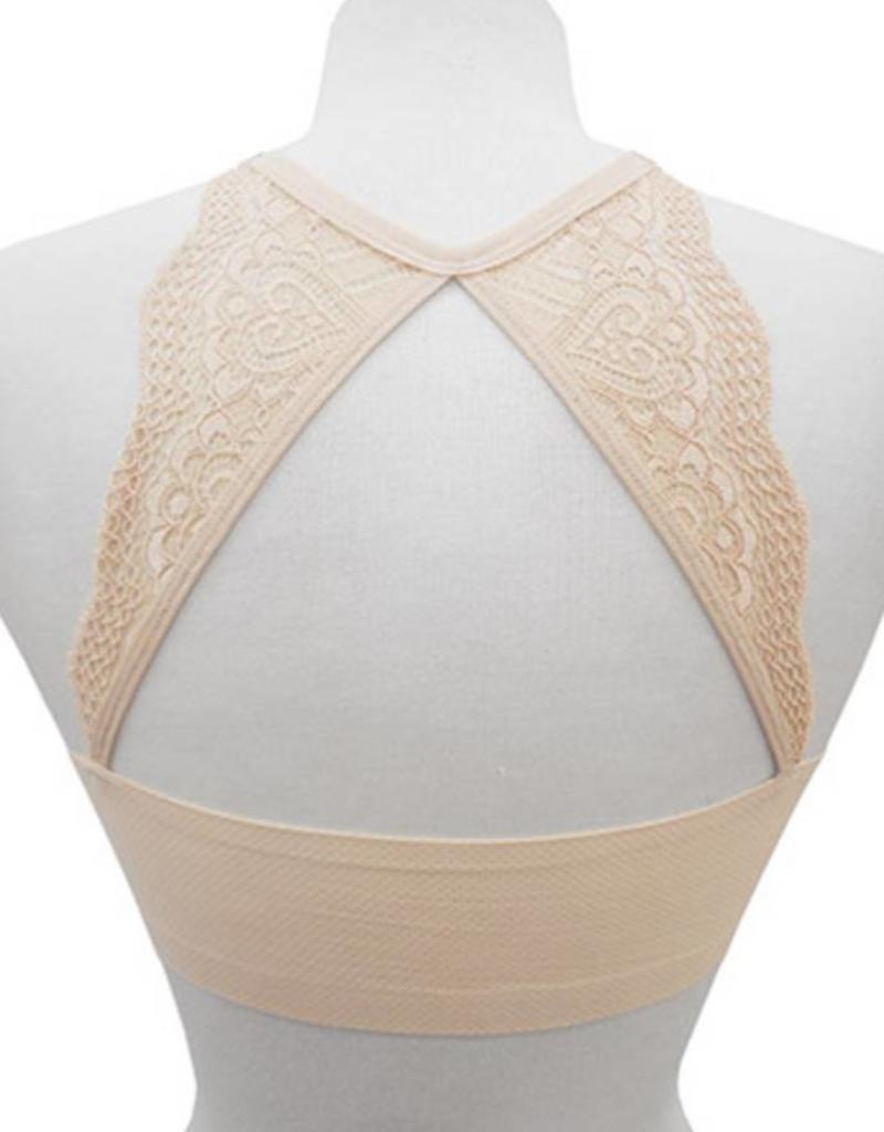 6b593b8899bb2 Yahada Bra With Lace Back - El Boutique LLC