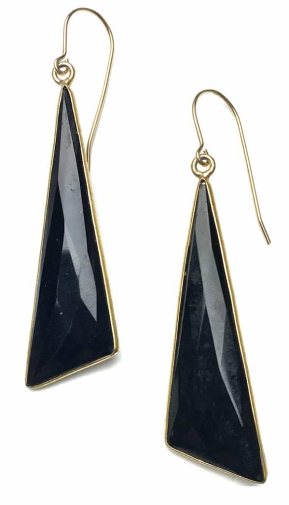 SOUL PEPPER Oblong Triangle Earrings