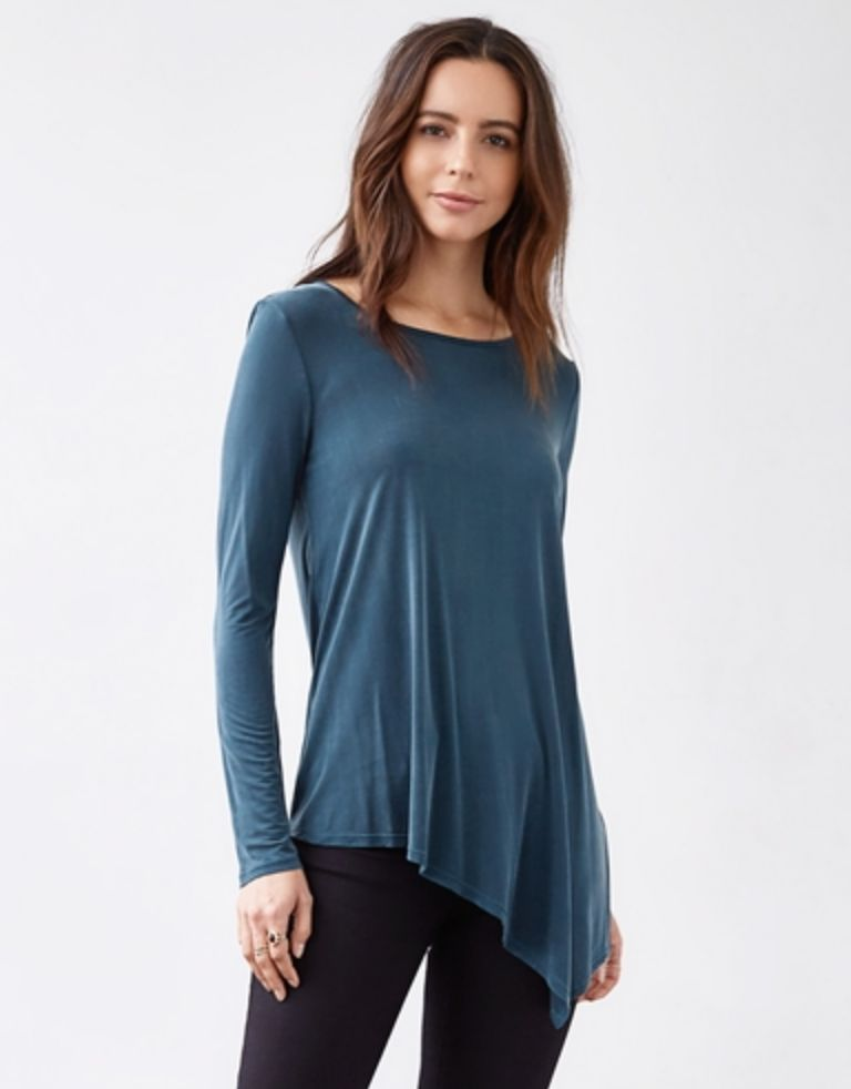 3DOTS Cupro Asymmetric Top