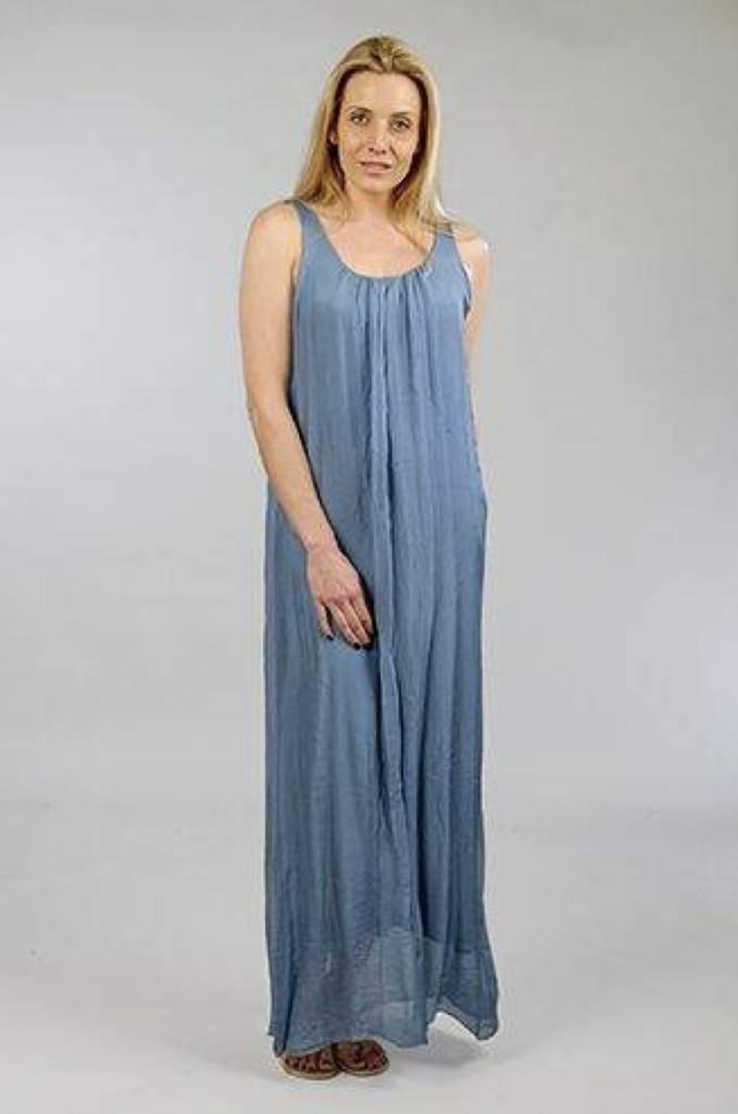 Suzy D Silk Double Layer Maxi Dress