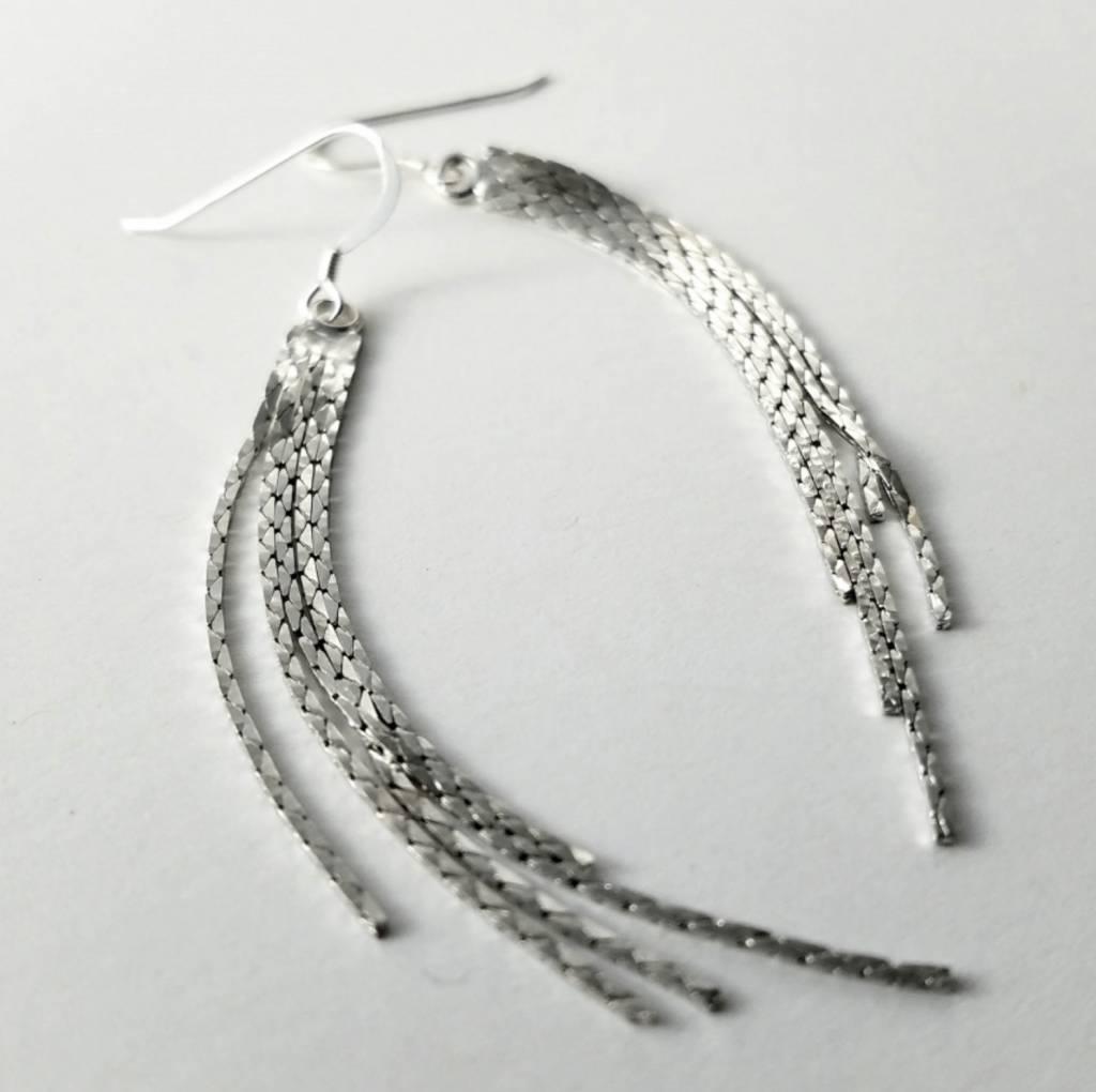 Verdier Metallic Tassel Earrings
