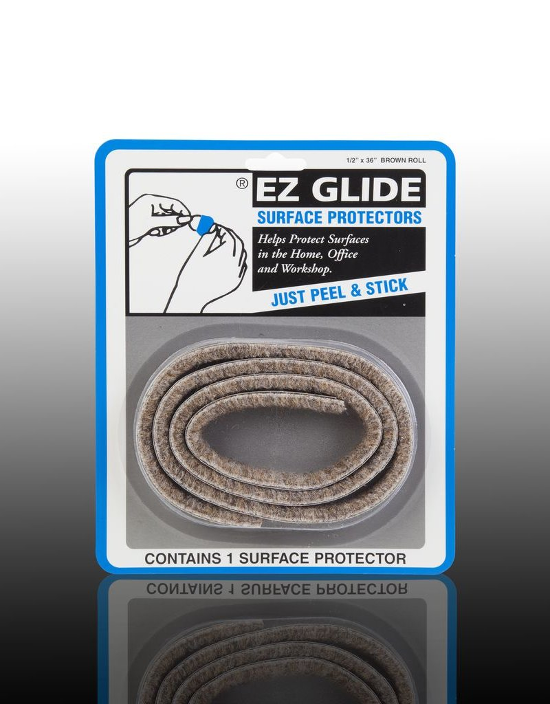 "EZ Glide EZ Glide Felt Floor Protectors, Strip 0.5"" x 36"" Roll, 1 per package"