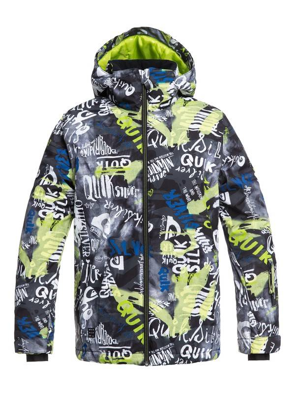 Quiksilver 2018/19 Quiksilver Boys' Mission Printed Snow Jacket | 8-16 yrs