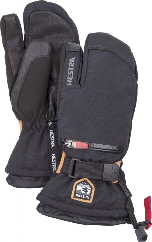 Hestra Hestra Junior All Mtn CZone 3 Finger Gloves - Black ... 88b6cd959d11