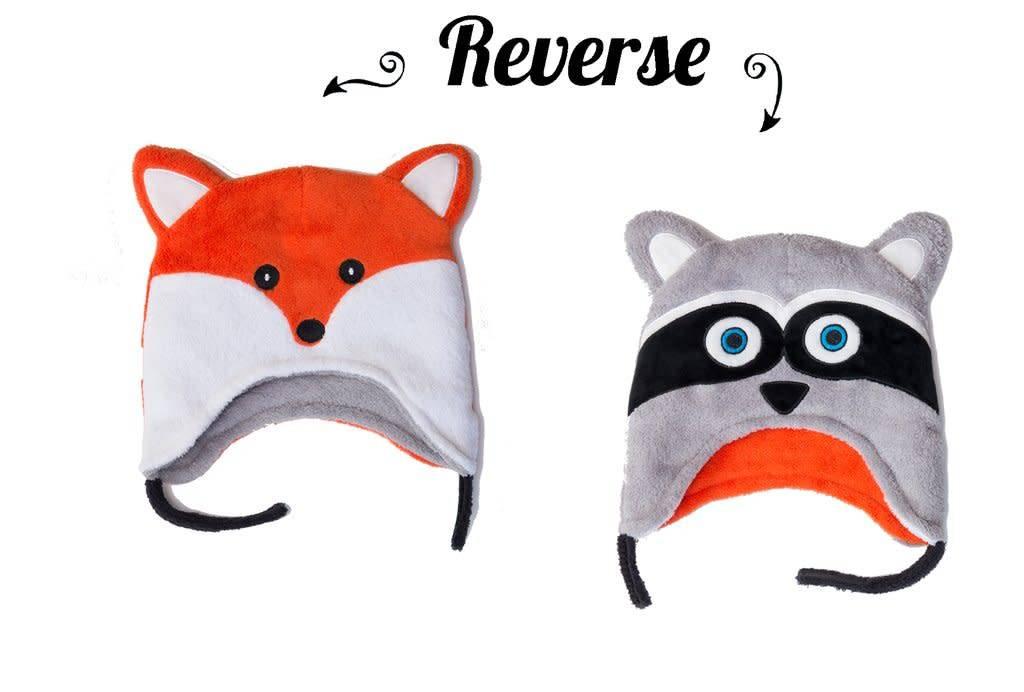 Flapjack Kids Racoon/Fox Reversible Hat