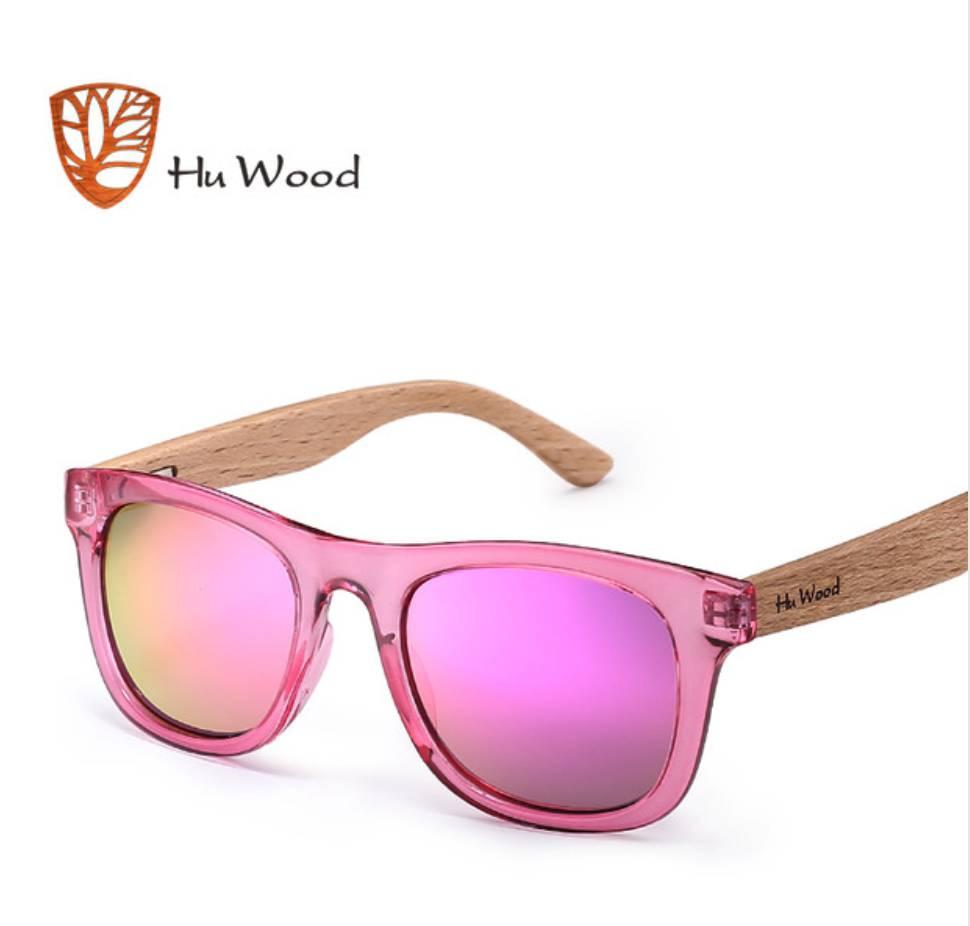 Hu Wood Kids' Wayfarer Polarized Sunglasses