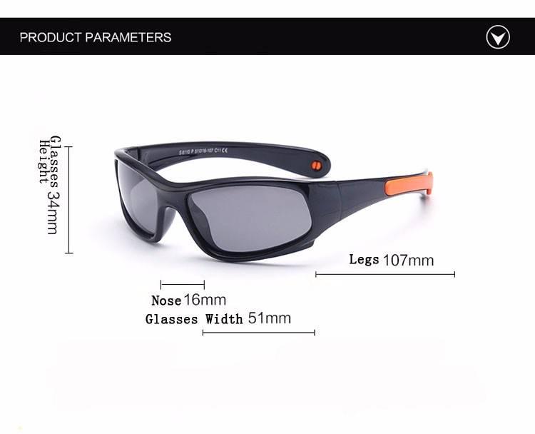 Toddler Polarized Wraparound TR90 Sunglasses