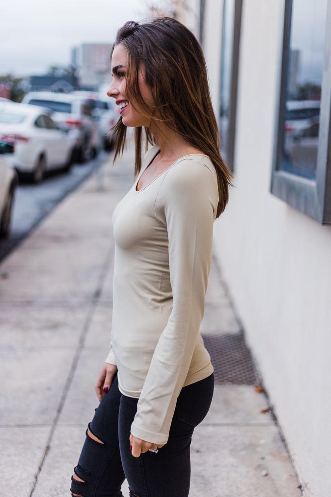 Long Sleeve Seamless Top