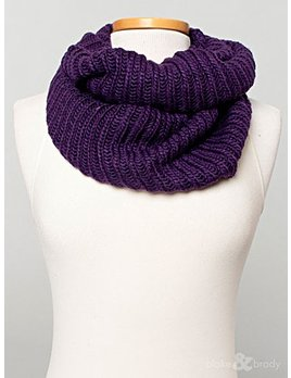 Solid Cable Crochet Knit Infinity Scarf