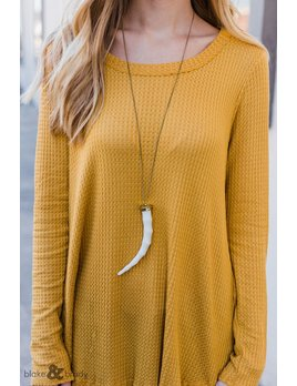 Wood Horn Necklace