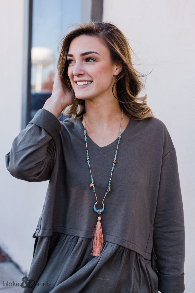 Horn and Tassel Necklace