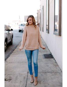 Chunky Knit Split Back Design Sweater