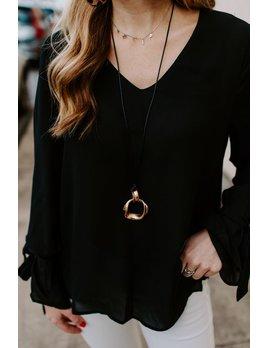 Twist Circle Pendant Necklace
