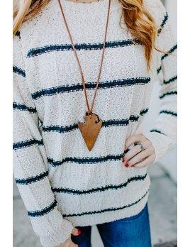 Arrowhead Wood Pendant Necklace