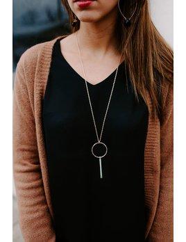 Circle and Bar Necklace