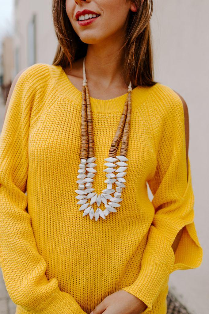 Rhombus Wood Necklace