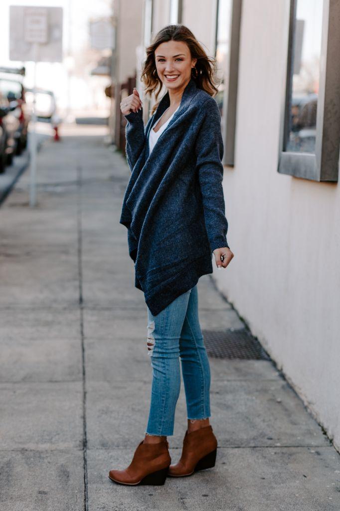 Asymmetrical Knit Cardigan
