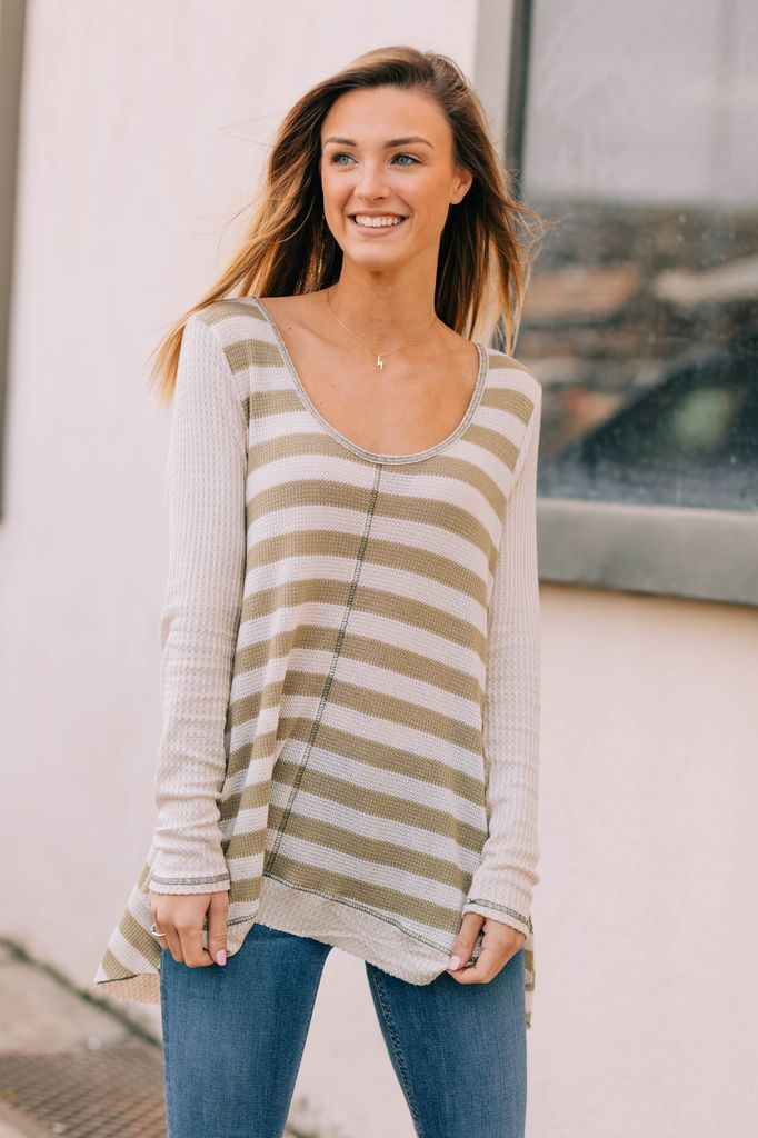 Striped Waffle Mix Top