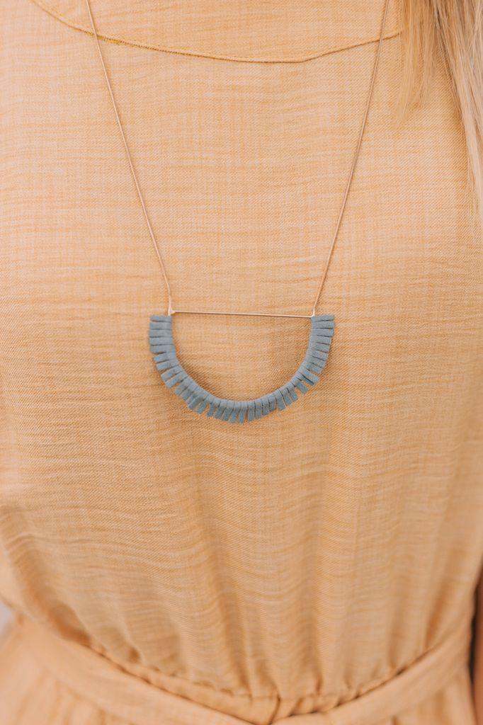 Wedge Frame Tassel Necklace