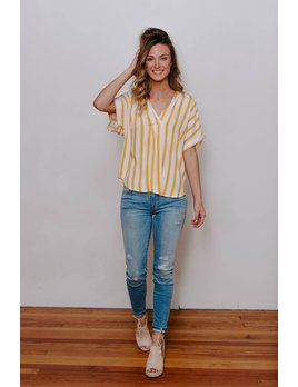 Vertical Stripe Woven Top