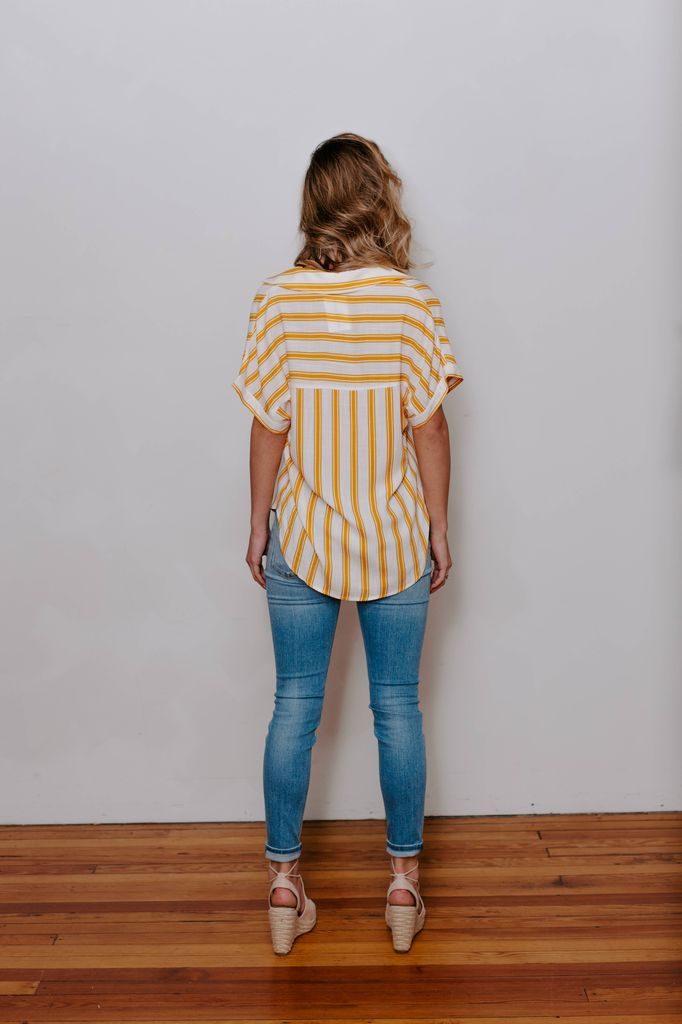 Vertical Stripe Woven Top