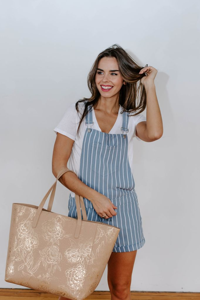 Z Supply The Pin Stripe Short Overalls