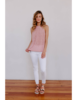 Karlie Solid Sweater Knit Sleeveless Top