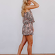 Karlie Snake One Shoulder Tie Romper