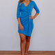 Karlie Solid Wrap Front Dress